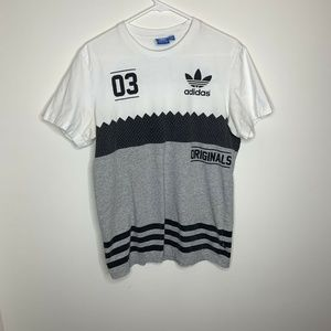 SOLD Originals Men's M Bold Tee Grey & White 03